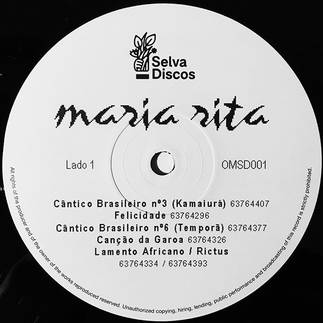 JUST IN: Maria Rita Stumpf's Brasileira LP, a holy grail that finally sees a reissue on Optimo Music's new sublabel Selva Discos. ——— #mariaritastumpf #optimomusic #selvadiscos #brasileira #mpb #raremusic #vinyl #vinylrecords #lp #nowplaying #graphicdesign #typography #bitmap