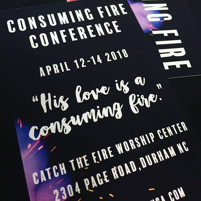 We are pumped for the Consuming Fire Conference this weekend!! 🔥 Pray for every student to encounter God's love in a fresh way!