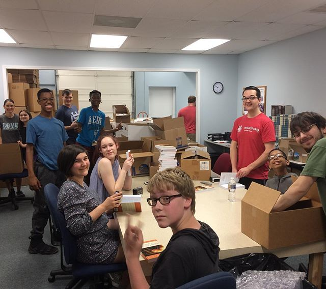 Youth Crew rocked the book packing at Christian Library International this morning!