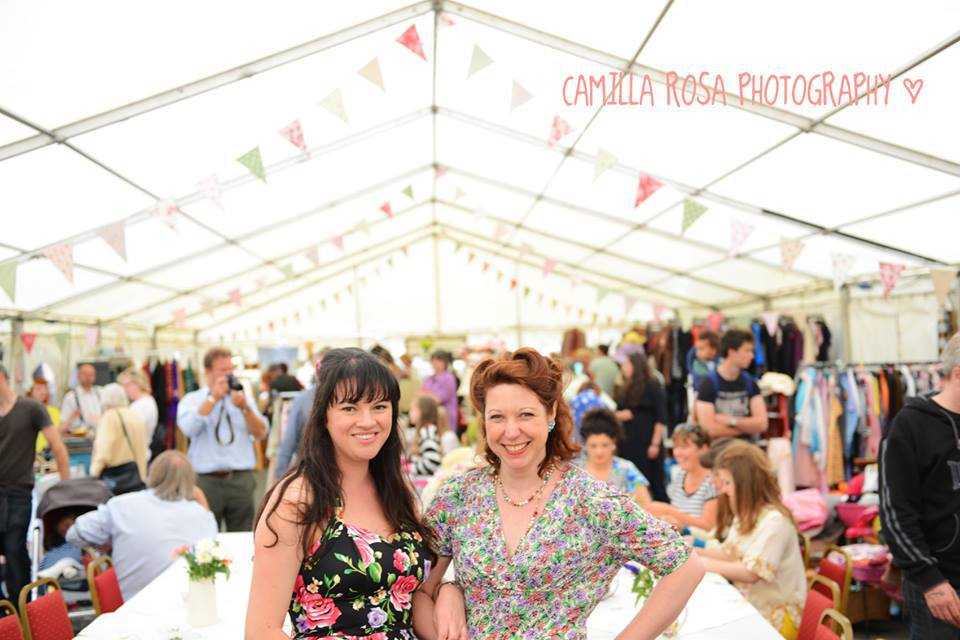 Organisers Jo Hodges and Naomi Emmanuel at HayDoesVintage 2016