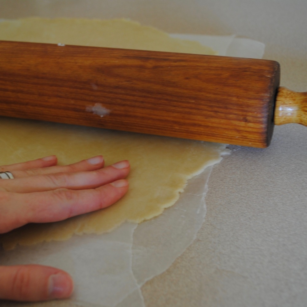 Roll out between 2 pieces of wax paper