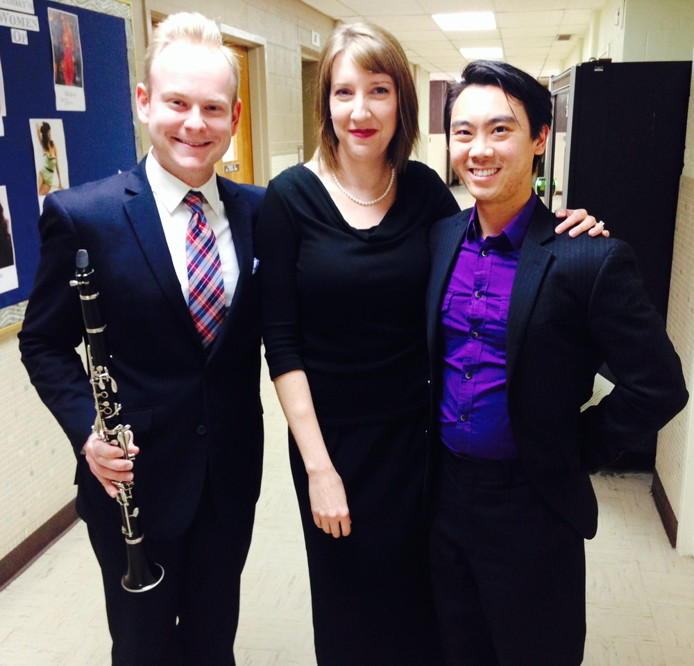 With Jake Wallace and Charlie Kim at our SOSU Faculty Showcase Recital.