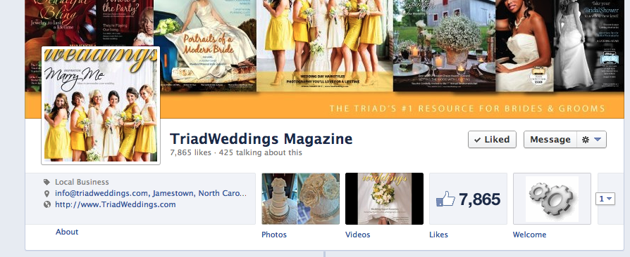 TriadWeddings Magazine on Facebook. Follow us for creative content, inspiration, and timely wedding news. Your greatest source for your North Carolina Triad wedding.