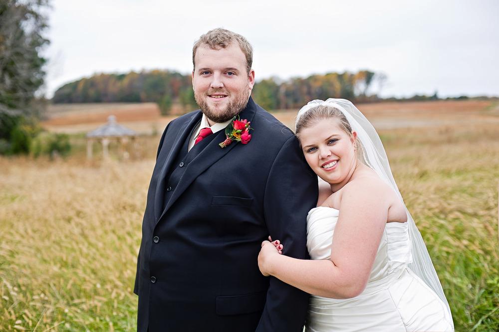 Jennifer and Zac's rustic Starlight Meadow wedding in Burlington, North Carolina. Image by Liz Grogan Photography.