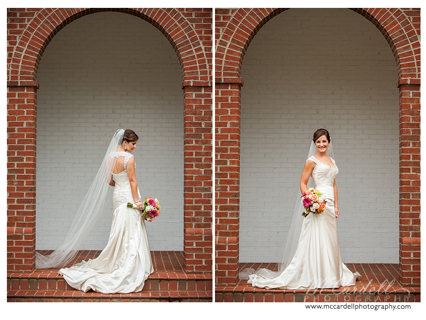 Bride looks stunning at her Starmount Country Club wedding in Greensboro, North Carolina. Images courtesy of McCardell Photography, a Greensboro, North Carolina Wedding Photographer.