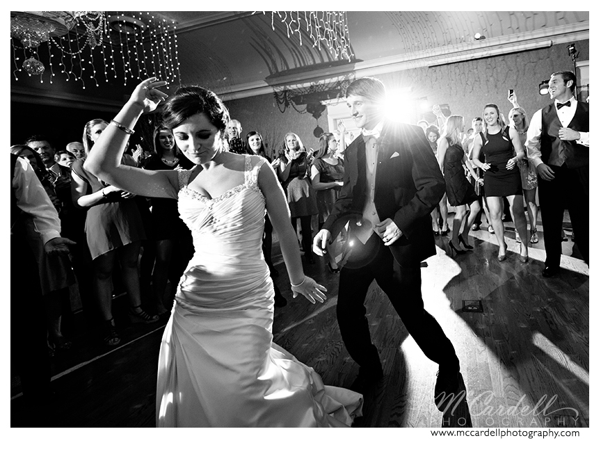 DJ Chuck Hedrick creates a party at this Starmount Country Club wedding in Greensboro, North Carolina. Images courtesy of McCardell Photography, a Greensboro, North Carolina Wedding Photographer.