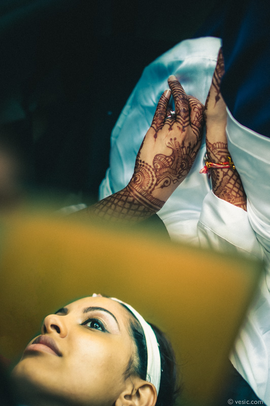 Bride getting ready at the Grandover Resort. Stunning wedding photography by Vesic Photography, a TriadWeddings Vendor.
