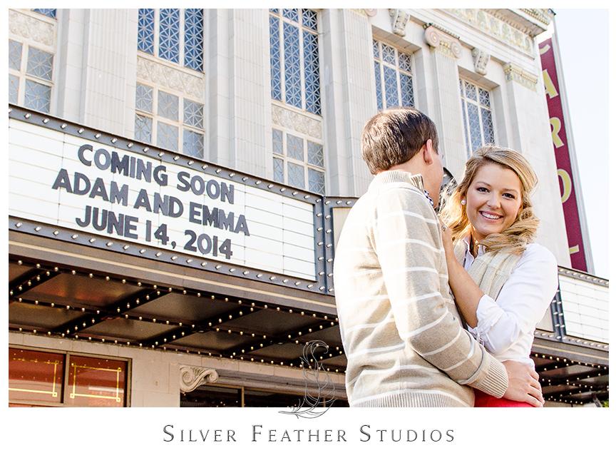 A Bicentennial Garden Engagement Session in Greensboro, North Carolina. Image by Silver Feather Studios, a North Carolina Wedding Photographer and a TriadWeddings vendor.