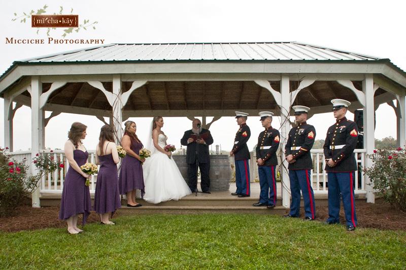 A military wedding at Autumn Creek Vineyards, a TriadWeddings venue in Mayodan, NC. Image by Mike Micciche Photography, TriadWeddings photographer in Greensboro.