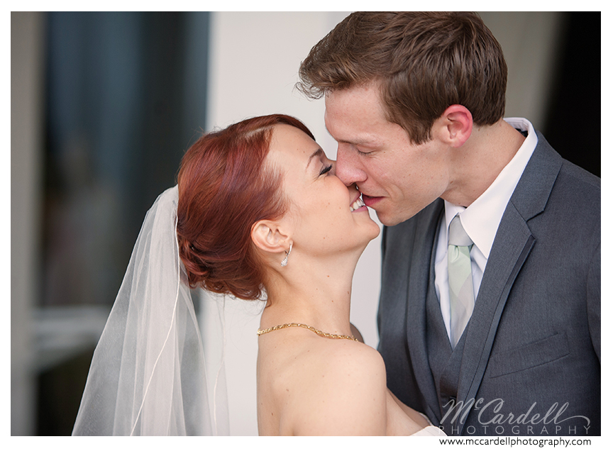A first look photographed by McCardell Photography in Greensboro, North Carolina, a TriadWeddings vendor.