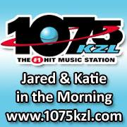 Jared and Katie in the Morning at 1075kzl, the #1 hit music station.