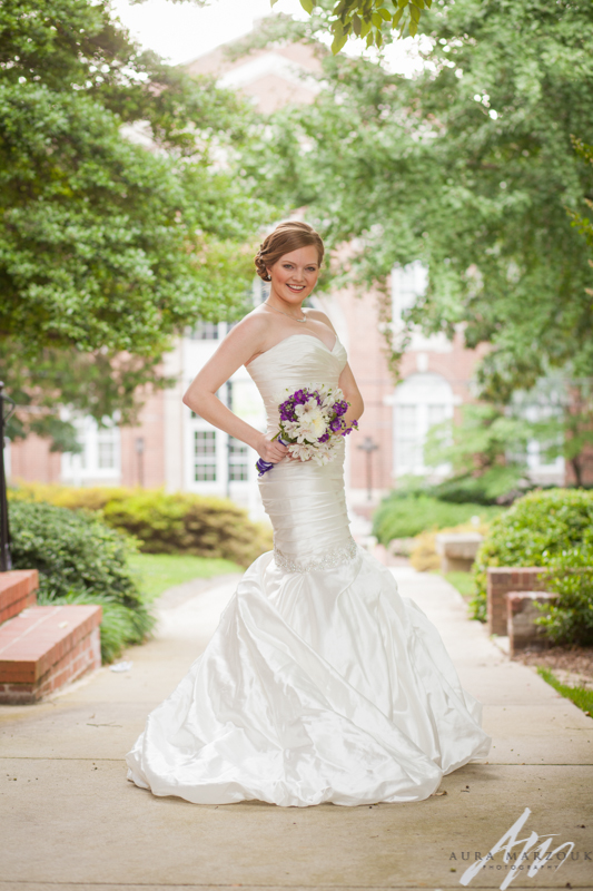 Greensboro College bridal session by Aura Marzouk Photography, a TriadWeddings photography vendor.