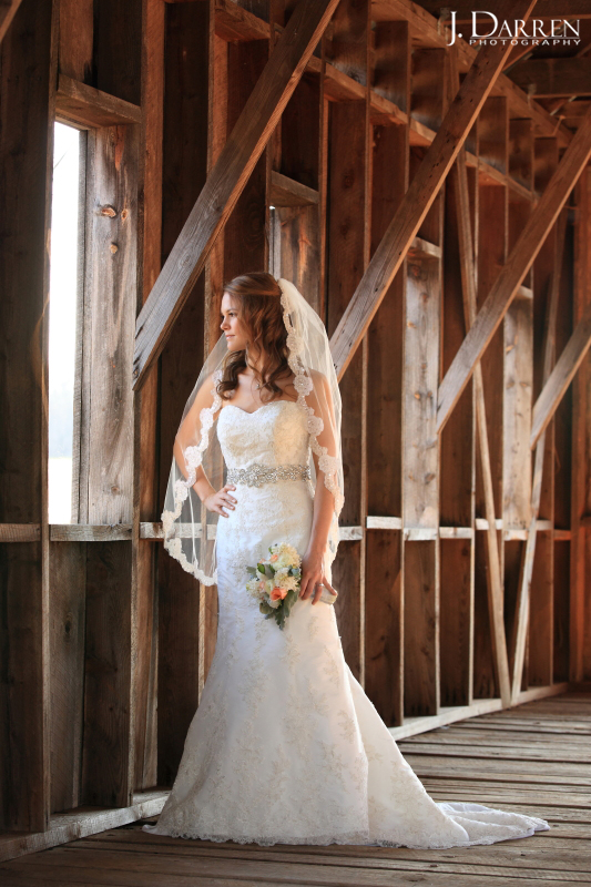 Stunning bride in her gown from Diva's Boutique and Bridal. Adaumont Farm Bridal session by J. Darren Photography, a Greensboro wedding photographer and a TriadWeddings vendor.