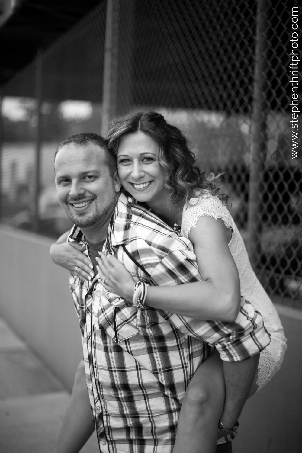 TriadWeddings features Stephen Thrift Photography's Downtown Greensboro engagement session.