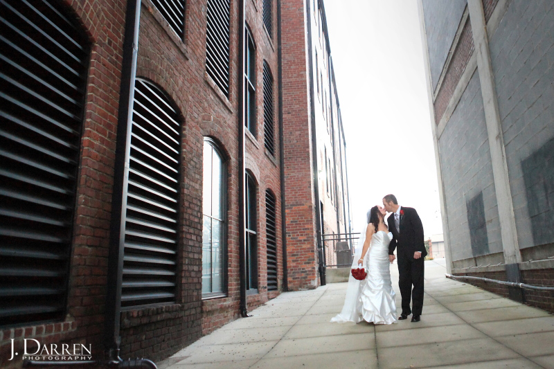 Urban wedding, high point, nc, lofts at union square.