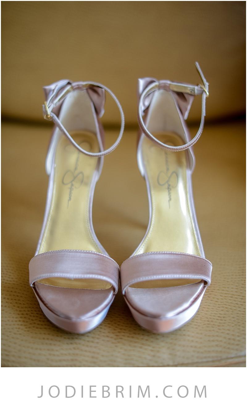 bridal details: pink jessica simpson shoes
