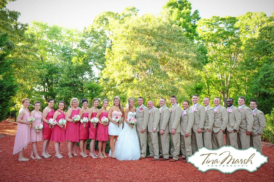 Pop Of Pink Wedding At The Gardens At Gray Gables Jordan