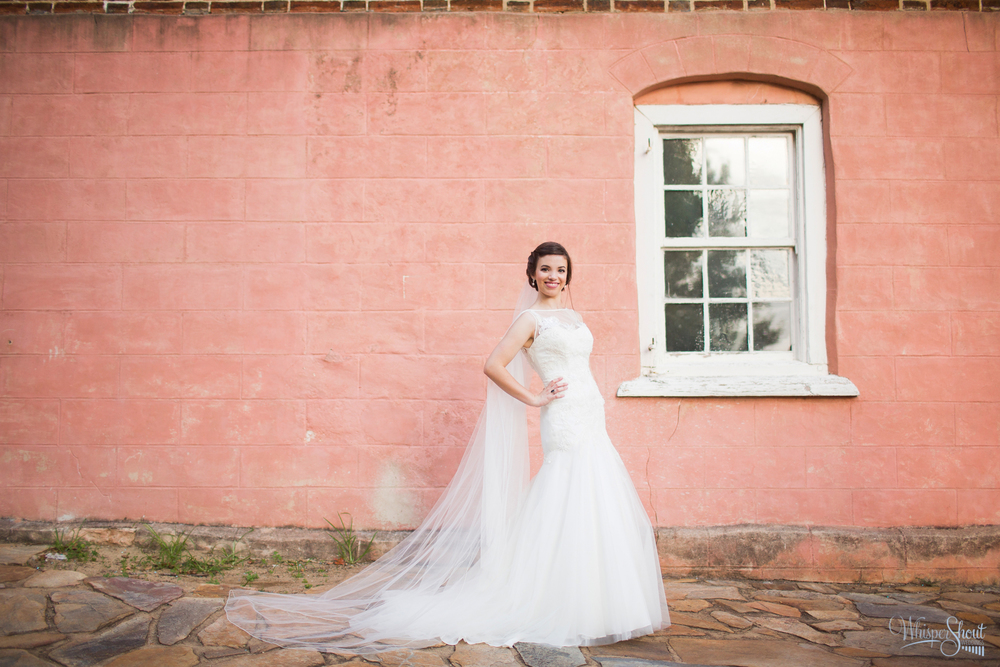 Old Salem bridal session by WhisperShout Weddings. Featured on the TriadWeddings Blog.