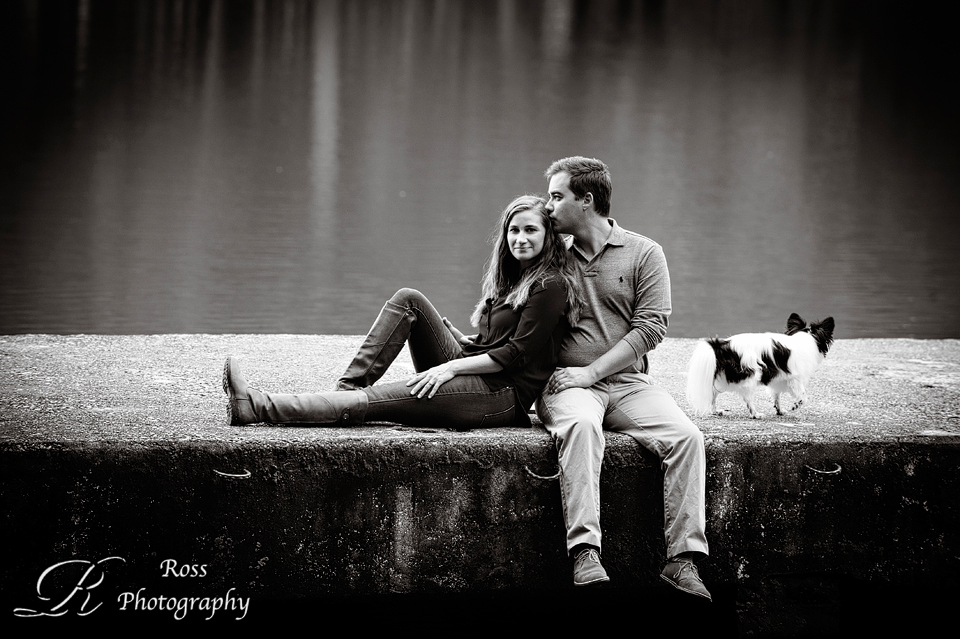 Greensboro NC engagement session; lakeside session; Robert Ross Photography