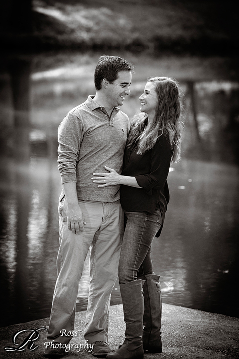sweet lakeside engagement session in Greensboro; robert ross photography.
