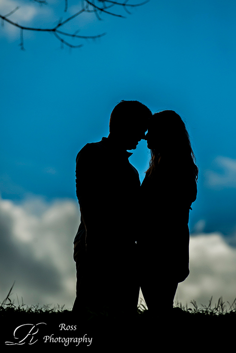 shadows and silhouette engagement photography by Robert Ross Photography; greensboro, nc.