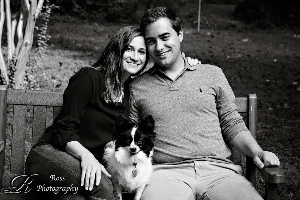 black and white engagement photography; greensboro, nc engagement session; robert ross photography.
