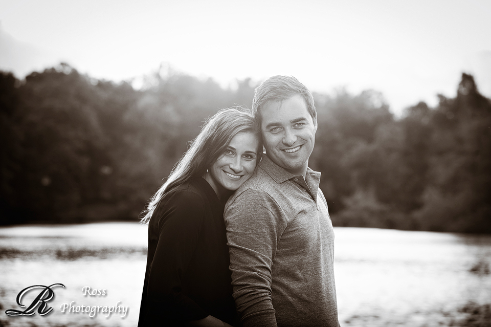 robert ross photography, black and white engagement photography; greensboro, north carolina.
