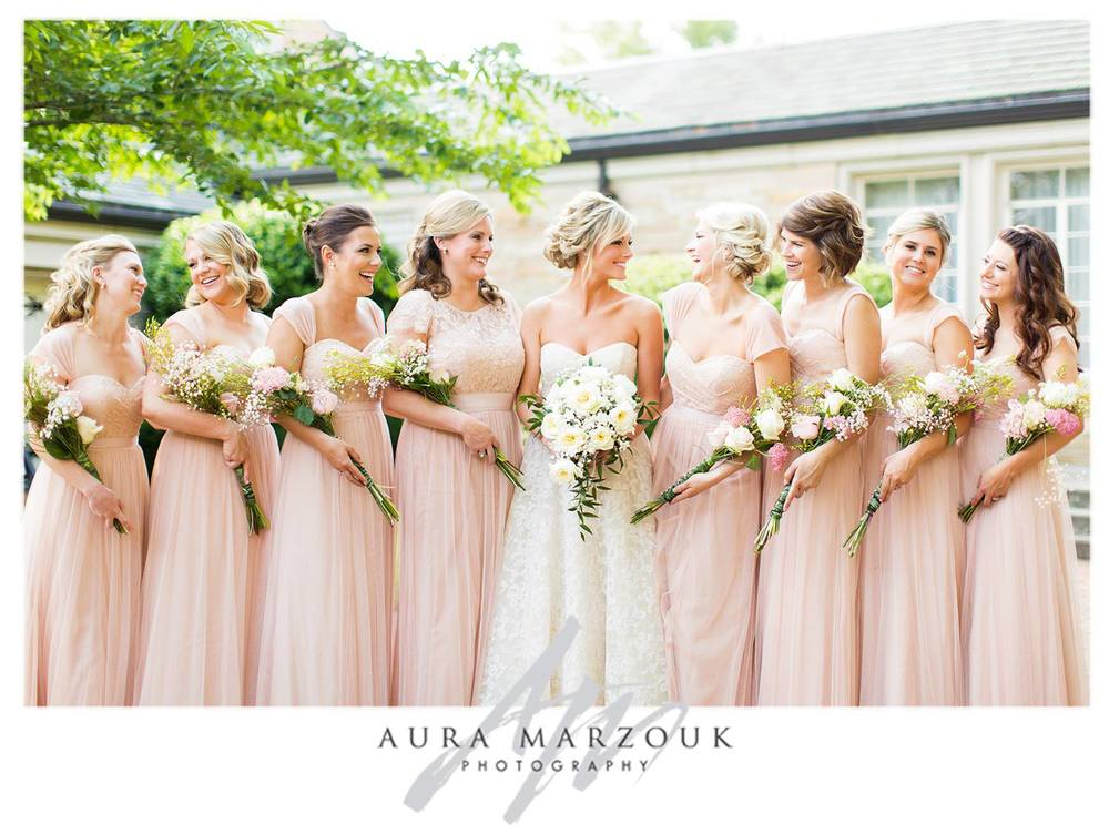 Changing it up bridesmaids dresses triad weddings the for Different necklines for wedding dresses
