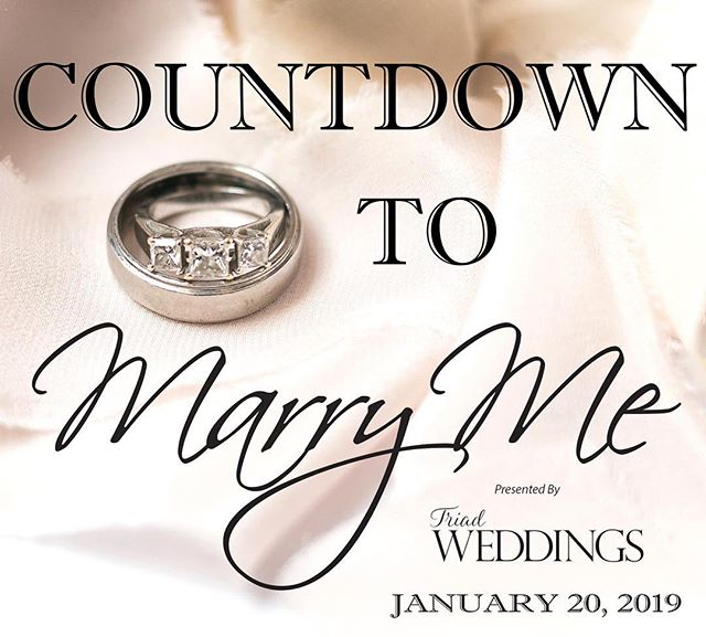 Are you counting the days? We sure are! Get your tickets here... https://marrymejanuary2019.eventbrite.com . . . #MarryMe #WeddingPlanning #BridalShow #Weddings #Bride #Groom #SouthernWeddings #WeddingPros #WeddingInspiration
