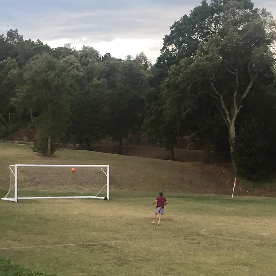 Fortunately for my sports loving son, the villa had a soccer field. We had family vs. staff games.