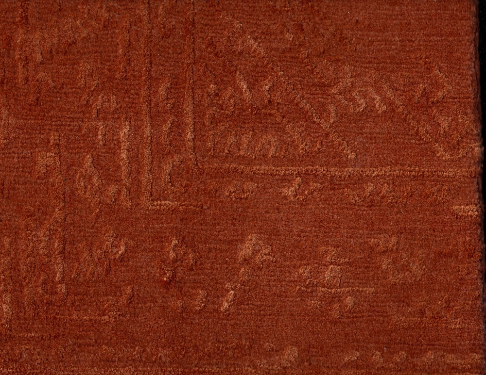 Burnt Orange Trad - Wool + Silk - 24861