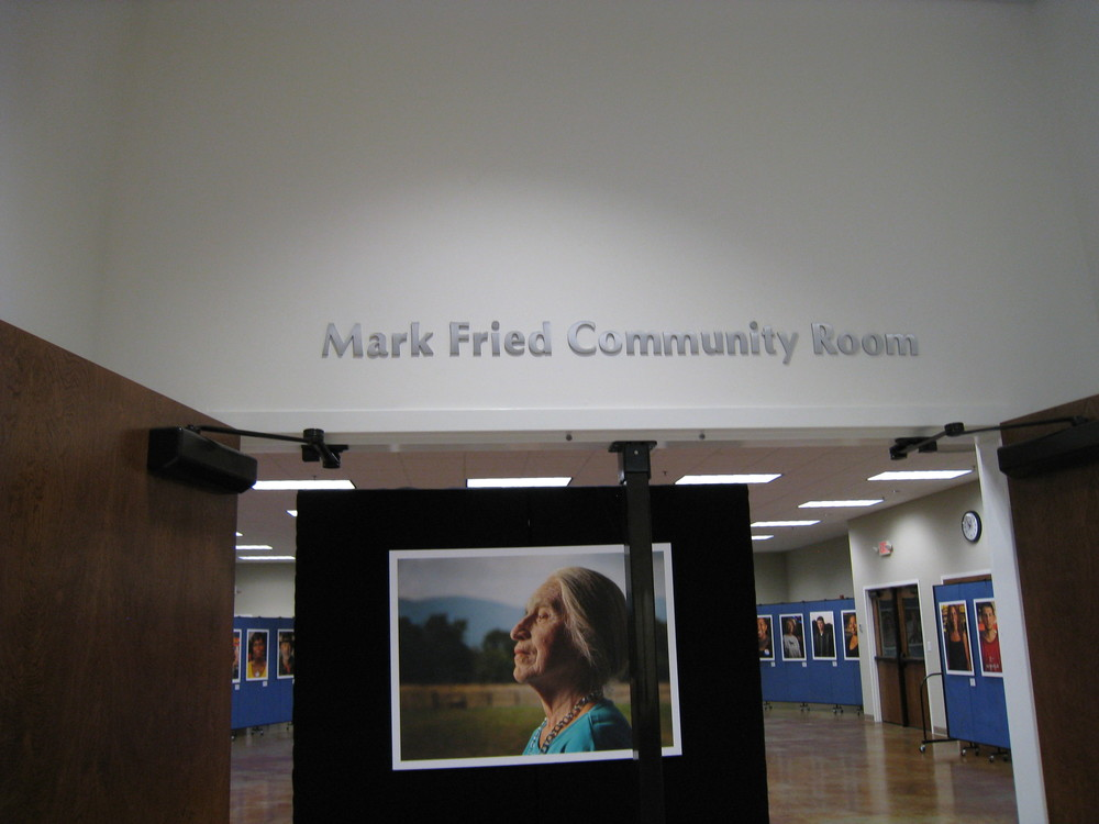 The Mark Fried Community Room is used for our public meetings