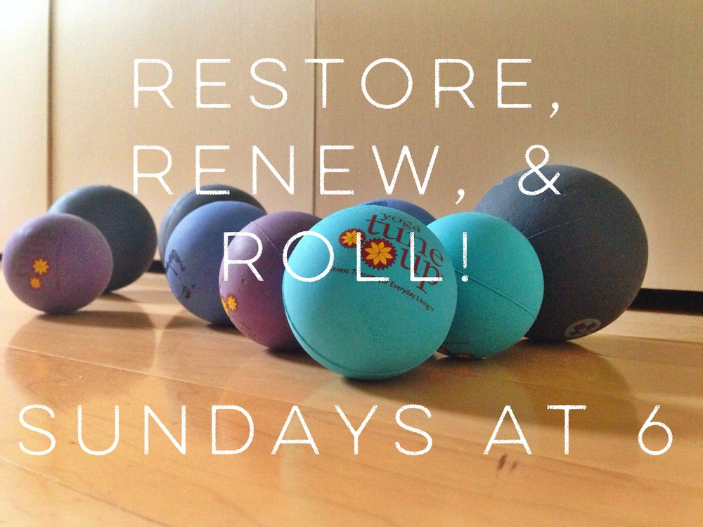 Come end your weekend with a serving of self-care Sunday!  Combining restorative yoga, self-massage, and Yoga Tune Up® methodology, we will explore different ways to balance out the body, looking at areas of tissue overuse, underuse, and misuse while also providing conditions for total relaxation.     At  Five Points Yoga,  1017 N Flores St, San Antonio, TX 78212