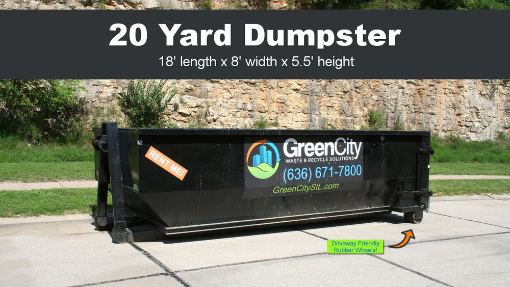 Click the image to order a 20 yard dumpster rental