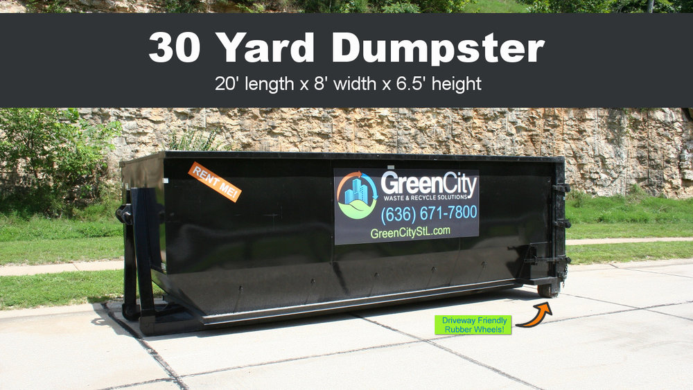 Click the image to order a 30 yard dumpster rental