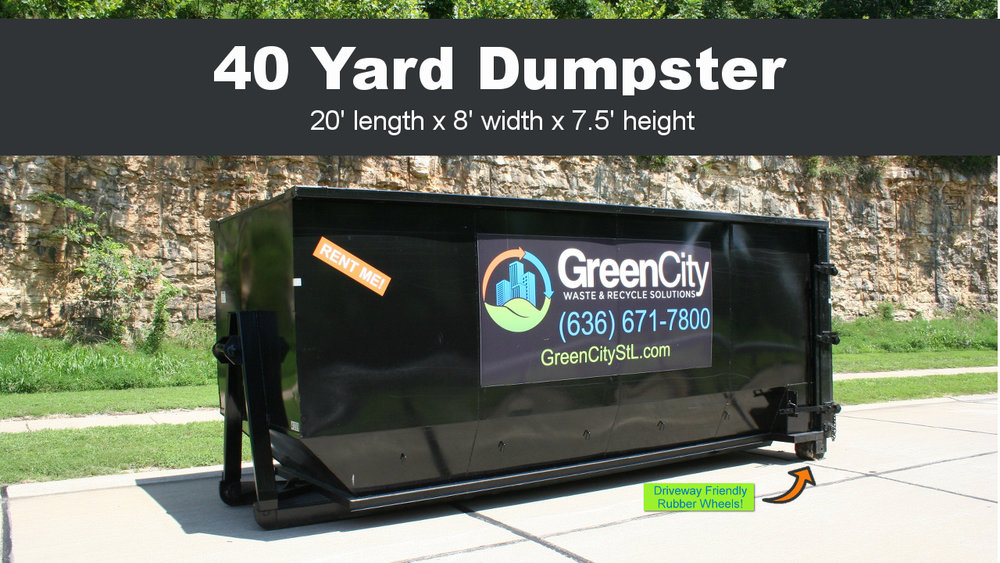 Click the image to order a 40 yard dumpster rental