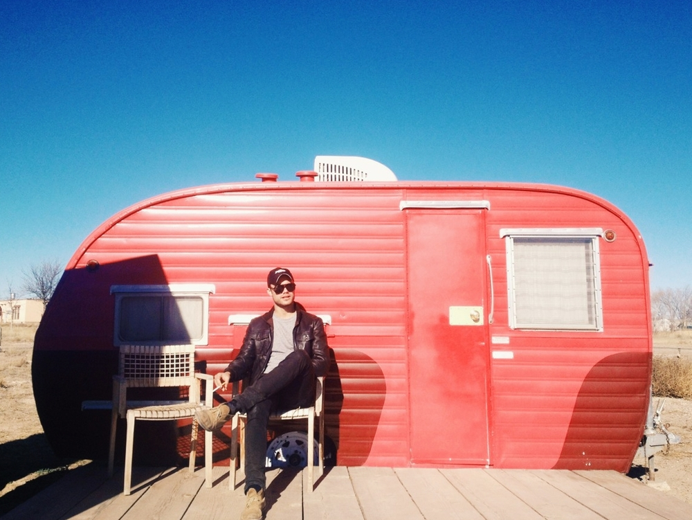El Cosmico in Marfa. This is Lil' Pinky.