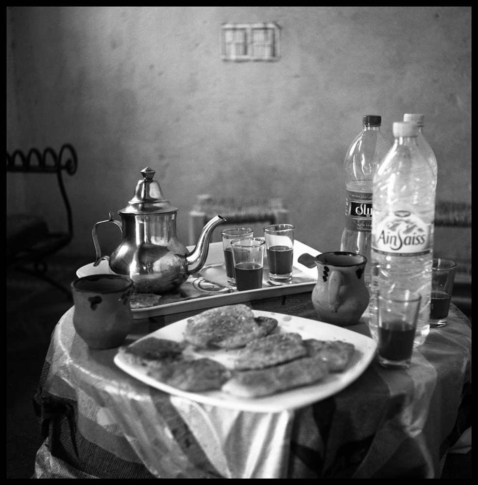 Tea and cakes in a village outside of Marrakech.