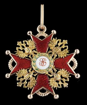 A Sash Badge of the Order of St. Stanislas, First Class, ca. 1890 by Keibel.