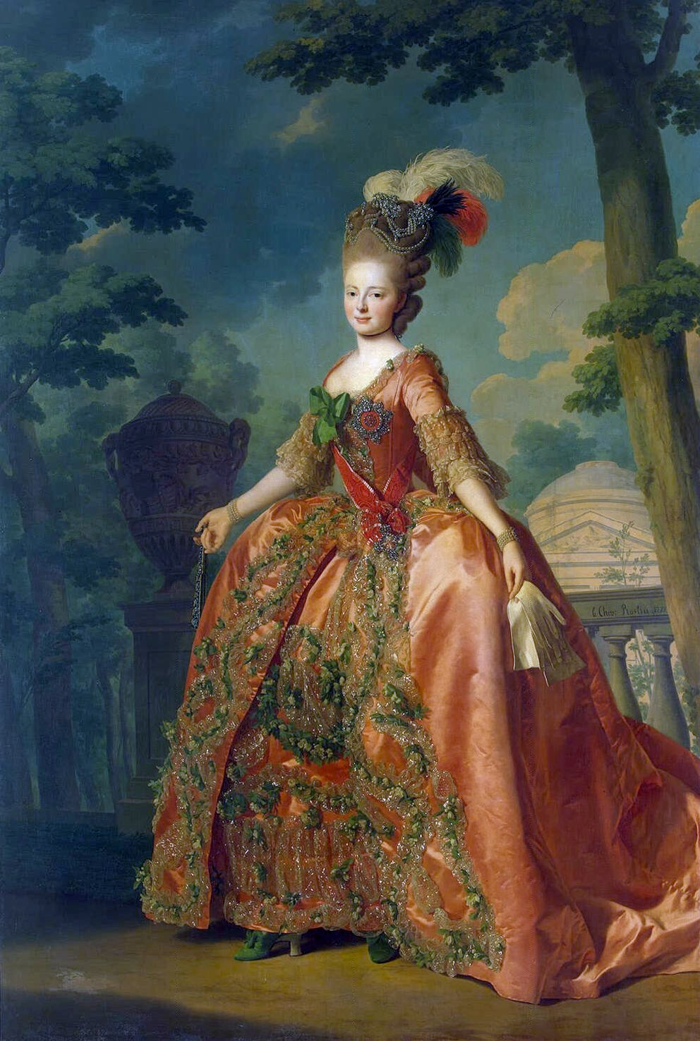 Grand Duchess Maria Feodorovna in Court attire, circa 1780 by Roslin
