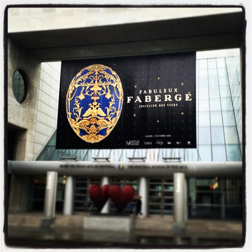 The banner on the Safdie-designed Musée des Beaux-Arts de Montréal.