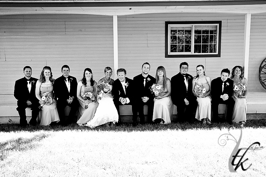 Group Bridal Party Portrait - Boise Idaho Wedding Photographer