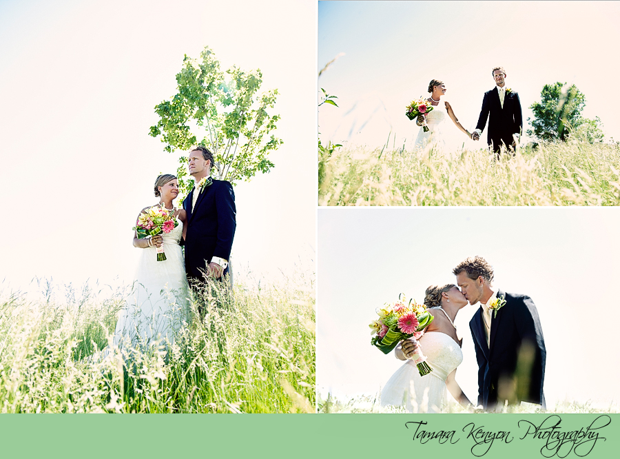 Bride and Groom Country Wedding - Boise Wedding Photographer