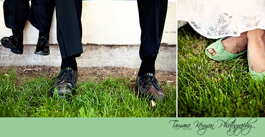 Ring Bearer and Goom Feet - Boise Idaho Wedding Photographer