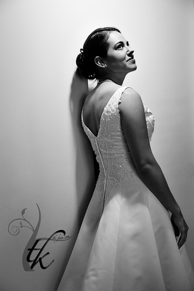 Dramatic Bridal Photo - Boise Idaho Wedding Photography