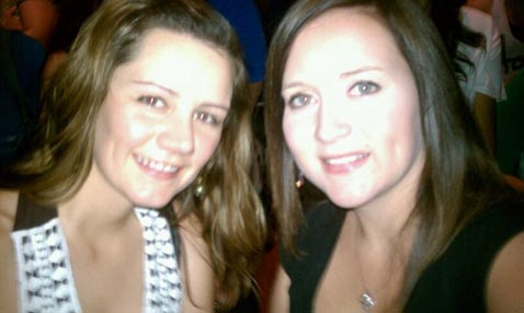Tamara and Ashely at the Hanson Concert