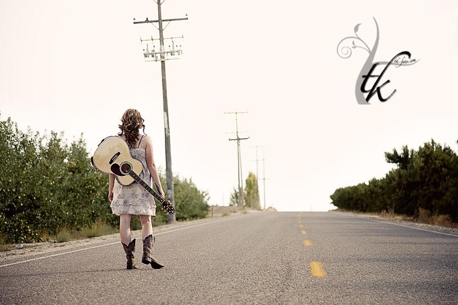 Walking Down the Road - Boise Idaho Senior Portrait Photographer