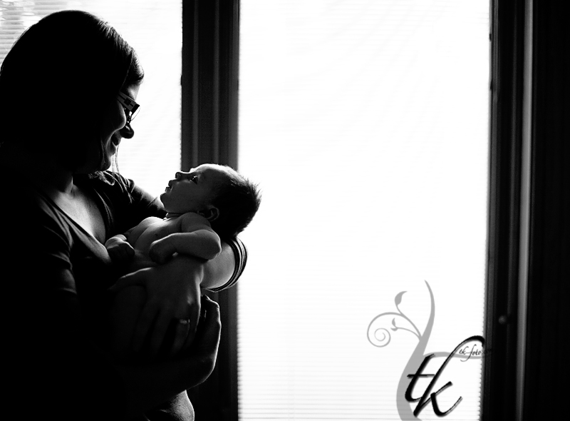 Mother and Baby - Boise Idaho Newborn Photographer