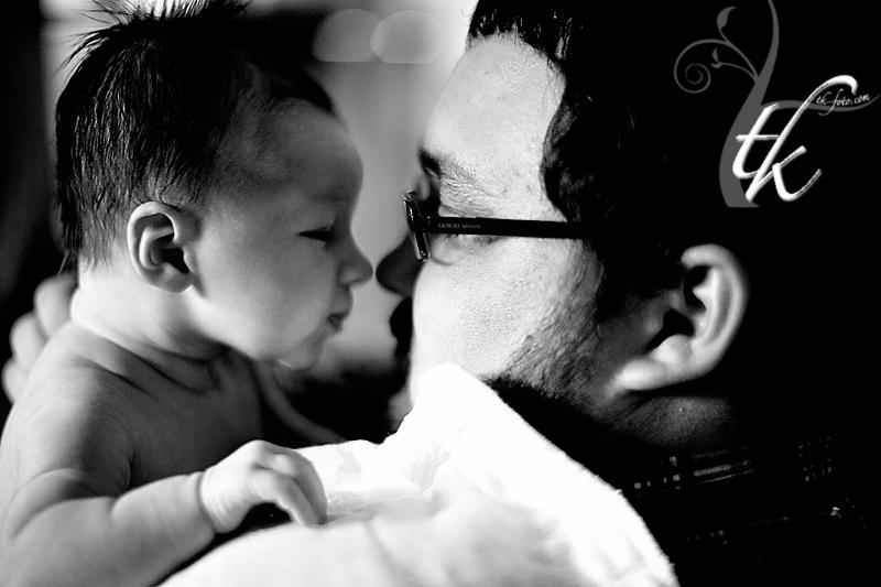 Staring Contest - Boise Newborn Photographer
