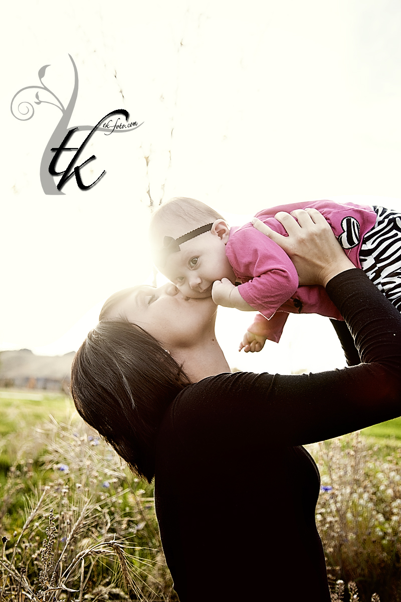 Mom and Daughter at Sunset - Boise Idaho Child Photographer